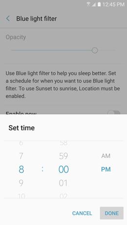 Blue light filter 9