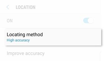 Select Locating Method 1
