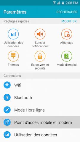Point dacces mobile et modem