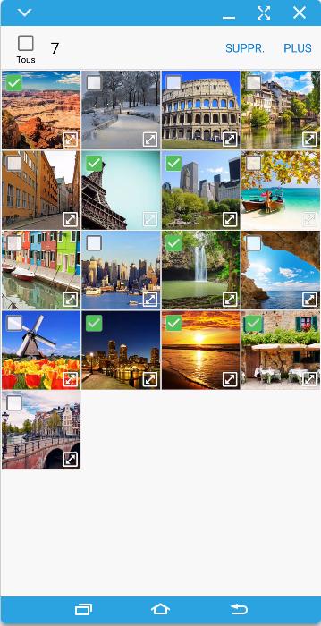 Cochez les cases qui correspondent aux photos que vous voulez copier