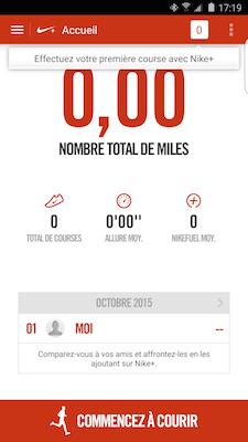 Lors de la premiere  utilisation de Nike+ Running telechargez un pack de voix