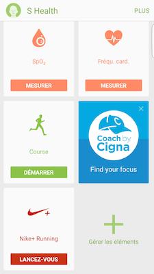 Touchez LANCEZ-VOUS au niveau de l'application Nike+ Running