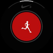 Touchez l'ecran pour commencer a personnaliser l'application Nike+ Running