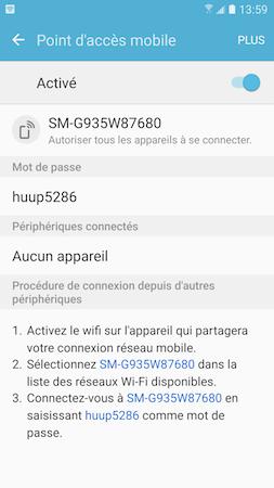 Point d'acces mobile 10