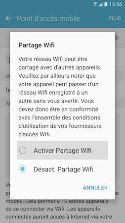 Point d'acces mobile 3