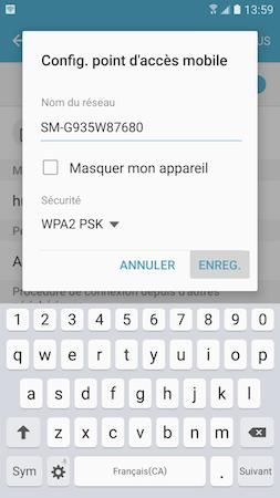 Point d'acces mobile 9