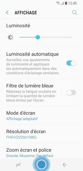 Touchez Accueil pour accéder à l'écran d'accueil du Mode simplifié