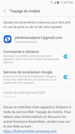 Traçage du mobile 6