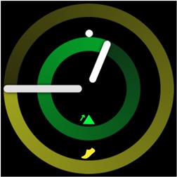 À partir de l'écran Horloge de votre montre intelligente, appuyez sur le bouton Accueil