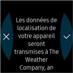 Touchez l'icône représentant une coche Accepter pour lancer l'étalonnage de l'altimètre