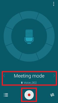 Choisissez le « Mode réunion » parmi les options disponibles