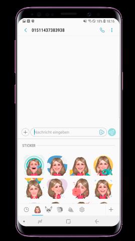 Wie verwende ich mein persönliches Emoji in Nachrichten?
