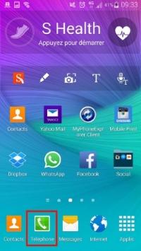 Lancez l'application Téléphone de votre Smartphone