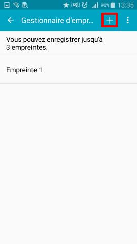 Comment ajouter ou effacer une empreinte digitale sur mon Samsung Galaxy S5