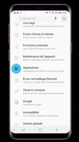Ouvrez « Paramètres » et sélectionnez « Applications »