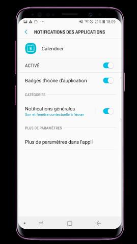 Faites glisser le bouton pour activer les notifications