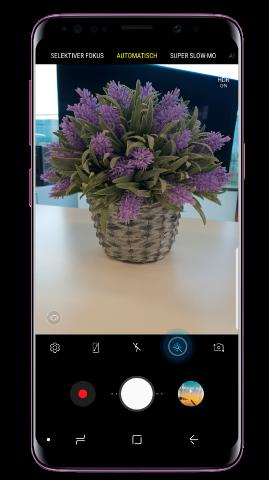 Tapez sur l'icône du filtre