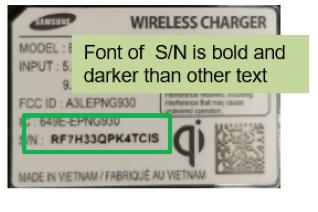 Étiquette numéro de série