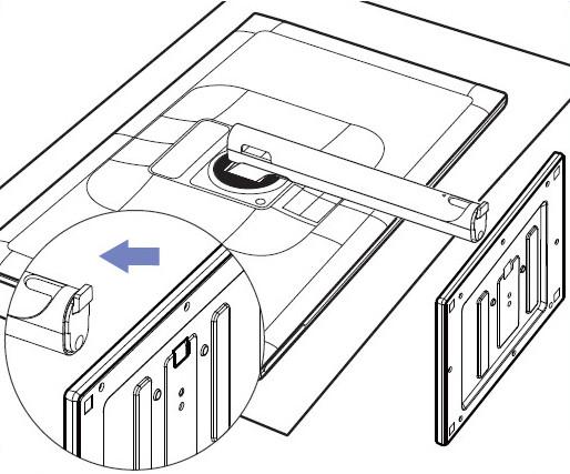 三星液晶显示器s27c750p如何安装底座?
