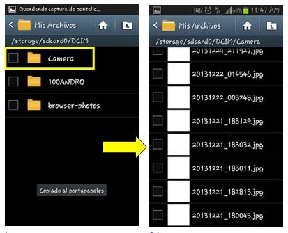 Smartphone Samsung - Pasar datos de memoria interna a externa