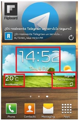 ¿Cómo colocar el Widget del clima en la pantalla principal de mi celular?