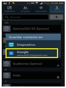 ¿Cómo pasar contactos de teléfono a cuenta de Gmail?