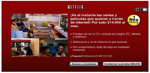 Cuando ingreso a aplicativo Netflix me indica  que no puedo conectarme