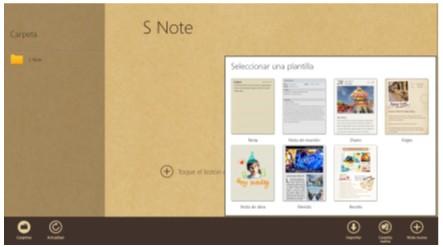 Como compartir notas y documentos creados por S Note mediante correo electrónico