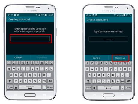 Uso de la huella para desbloqueo del Samsung Galaxy S5