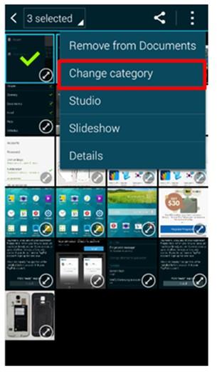 Cuando filtro las fotos tomadas con mi Galaxy S5 en galería aparecen en una categoría diferente a la esperada.  ¿Cómo soluciono esto?