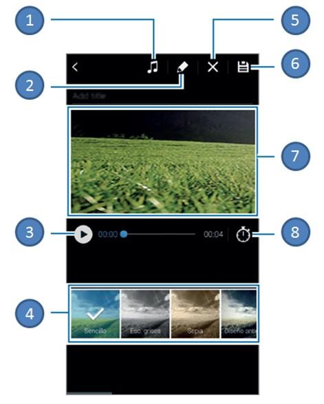 ¿Cómo editar las fotos y videos que capturo con mi Galaxy S5?