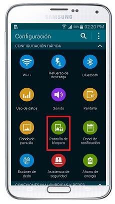 ¿Cómo activar el patrón de desbloqueo en mi Samsung Galaxy S5?