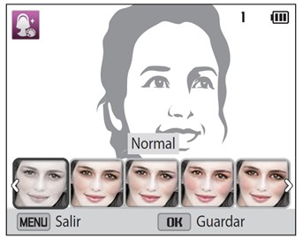 Uso del Modo de Paleta de Belleza en la Cámara DV150F