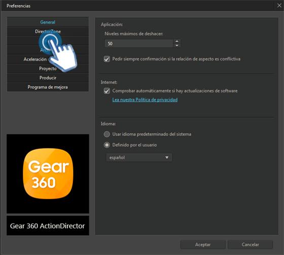 Gear 360 ActionDirector