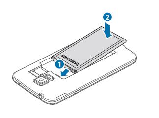 Samsung Galaxy S5, Akku und SIM-Karte einlegen, Schritt 3, Akku einlegen