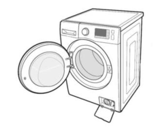 Fremdkörperfalle einer Samsung Waschmaschine reinigen, Schritt 2,  Fremdkörperfalle öffnen.