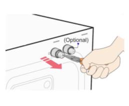 Sieb am Wasserzulauf meiner Samsung Waschmaschine reinigen, Schritt 3, Sieb des Frischwasserschlauches herausziehen
