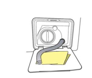 Fremdkörperfalle einer Samsung Waschmaschine reinigen, Schritt 6, Trockenes Tuch bereithalten.