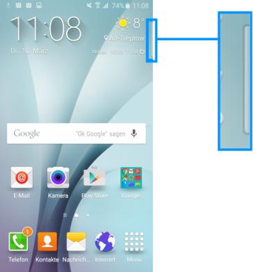 Seitenbildschirm des Galaxy s6 (edge/edge+) Funktionen, VIP-Kontakte Seitenbildschirm