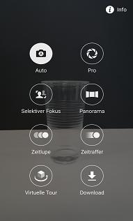 Samsung Galaxy S6 (edge), Videos im Zeitraffer Modus aufnehmen, Schritt 2, Liste der Aufnahmemodi öffnen