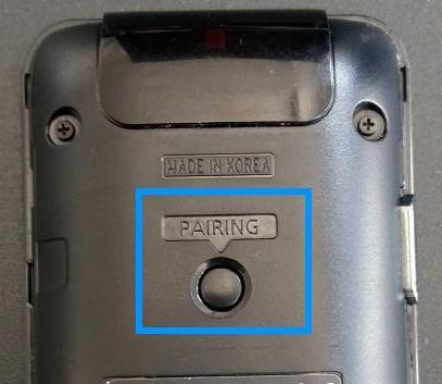 wie-kannSamsung Smart TV, Verbindung mit Smart Touch Controll, (2013er Modelle), Pairing Taste auf Rückseite der STC