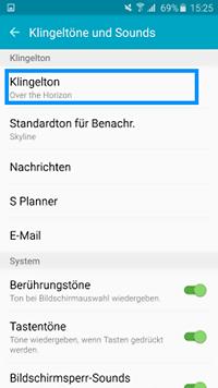 Wie kann ich bei meinem Galaxy S6 edge einen eigenen Musiktitel als Klingelton einstellen