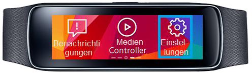 Samsung Gear Fit, Profil erstellen, Schritt 1 , Einstellungen auswählen