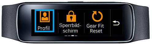 Samsung Gear Fit, Profil erstellen, Schritt 2 , Profil auswählen