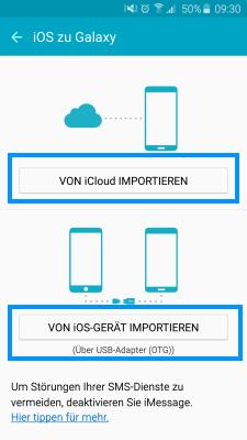 Von iCloud importieren