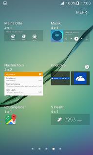 Samsung Galaxy S6 (edge/edge+) Widgets hinzufügen, Widget auswählen