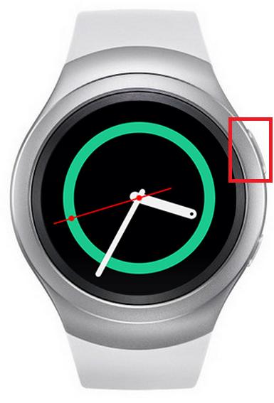 Samsung Gear S2/Gear S2 classic, Tastenverwendung, Zurück-Taste