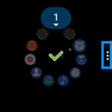 Samsung Gear S2, Screenshot erstellen, 3 Punkte auf Display zum antippen