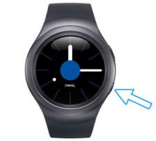 Samsung Gear S2, Screenshot erstellen, Optionstaste drücken und Finger über Display ziehen