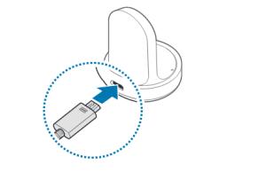 Samsung Gear S2 (classic) aufladen, inklusive info zum Ladestatus, USB-Kabel mit indukiver Ladeschale verbinden